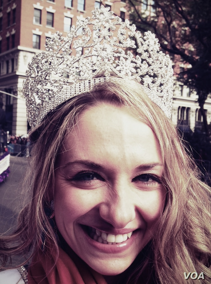 Ms. Veteran America, Allaina Guitron, a 13-year active duty Army sergeant, rode a prominent float in NYC's Veterans Day parade as part of her job to help bring public awareness to the plight of America's 35 thousand homeless female veterans. Photo: A...