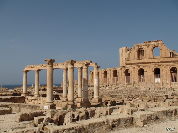 This 2009 file photograph shows the ruins of Sabratha, a Phoencian, later Roman port city, that has drawn tourists for centuries. (E. Arrott/VOA)