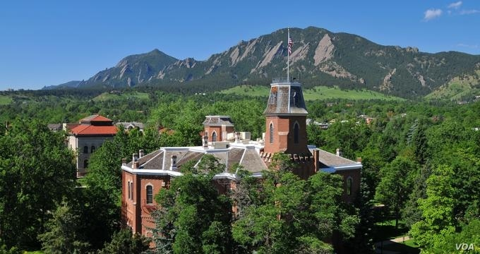 """Boulder, Colorado, in the Rocky Mountain foothills, is home to the University of Colorado (shown here). Boulder finished fifth in Amazon's list of America's """"well-read"""" cities. (University of Colorado)"""