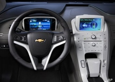 Animation on a screen in the dashboard in Volt tells the driver the status of the battery charge.