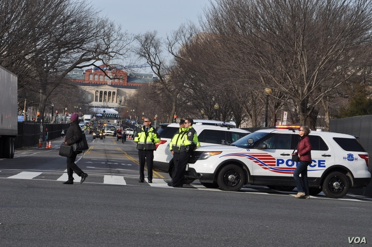 Security has been heightened in Washington, D.C., for Friday's presidential inauguration, Jan. 19, 2017.