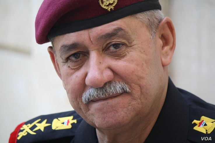 Lieutenant General Abdul Ghani al-Assadi, commander of the Counter Terrorism Service, or Iraqi Special Forces says Islamic State militants in Mosul will be defeated in the coming days on June 24, 2017 in Mosul, Iraq.