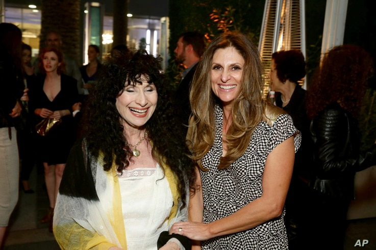 """Los Angeles PremiereAuthor Diane Ackerman and director Niki Caro at the Los Angeles Premiere of Focus Features' """"The Zookeeper's Wife"""" at ArcLight Hollywood, March 27, 2017, in Los Angeles. (Photo by Steve Cohn/Invision for Focus Features/AP Images)"""