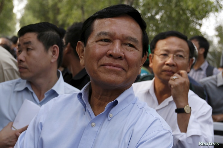 Court officials want to question Cambodia National Rescue Party leader Kem Sokha, pictured in Phnom Penh in February 2016, about recent allegations of solicitation and ignoring previous subpoenas.