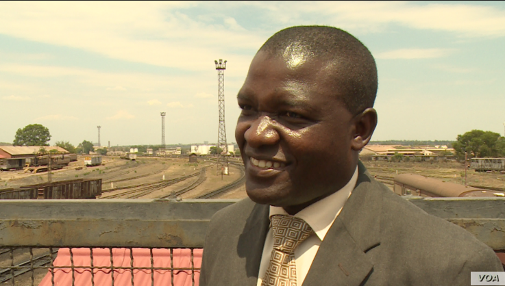 Nyasha Maravanyika, spokesperson National Railways of Zimbabwe says once the company is recapitalized, it will be ready to lead the country's economic recovery from its base in Bulawayo, Nov. 21, 2018.