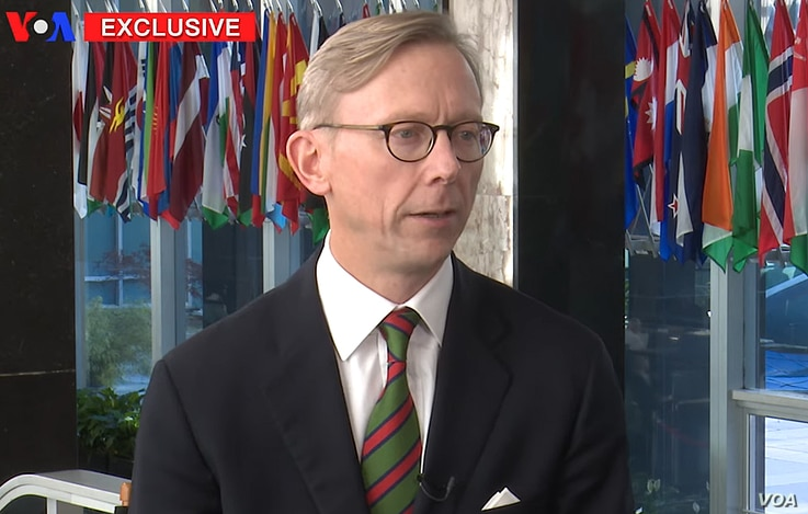 U.S. Special Representative for Iran Brian Hook speaks to VOA Persian, Dec. 18, 2018.