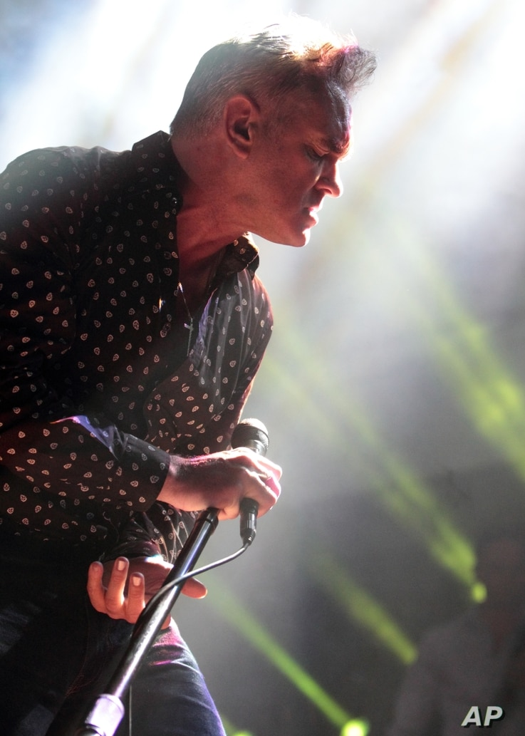 Morrissey, former singer for the 80's alternative rock-band The Smiths, performs onstage at the House of Blues, Jan. 12, 2013, in Atlantic City, New Jersey.