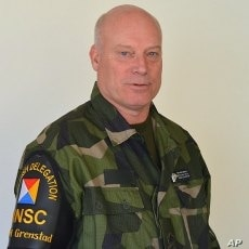 Rear Admiral Anders Grenstad, Head of Swedish Delegation to Neutral Nations Supervisory Commission, October 19, 2011.