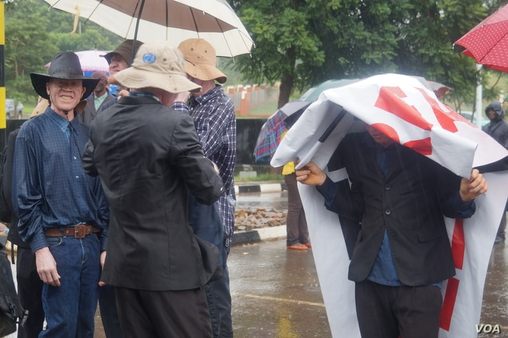 Protesters braved the rain in their bid to seek a solution aiming to end attacks on albinos in Malawi.