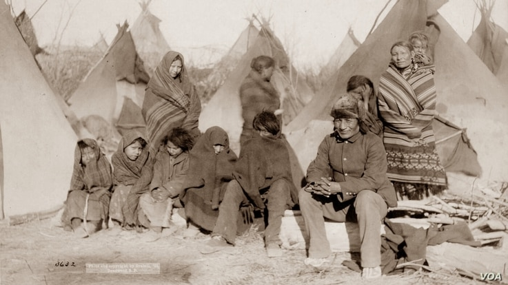 """This 1891 photo by J. C. H. Grabill was labeled, """"What's left of Big Foot's band."""""""
