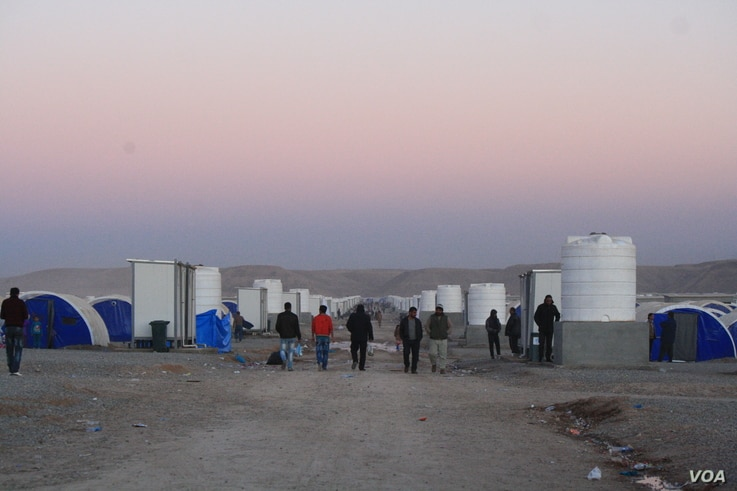 The International Organization for Migration says 84,000 people have fled their homes since the Mosul offensive began in mid-October and new camps, like Hassan Sham's third location, are being built up in anticipation of a possible displaced populati...