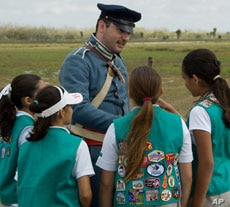 Money raised from cookie sales helps support Girl Scout outings like this visit to the Palo Alto Battlefield National Historic Site in Texas.