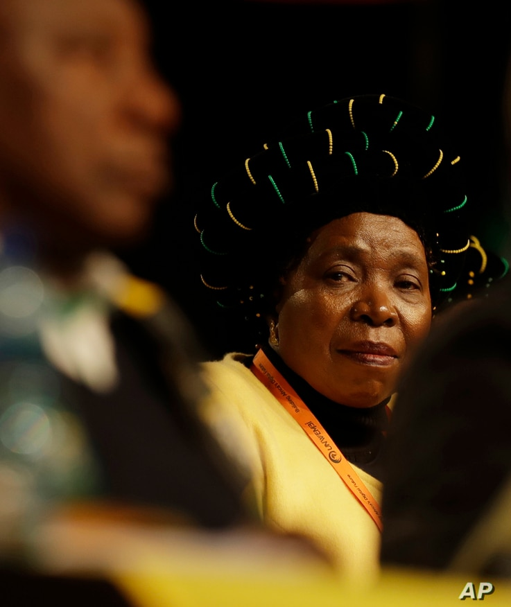 Nkosazana Dlamini-Zuma, wife of South Africa's ruling party president Jacob Zuma, addresses party delegates at a policy conference in Johannesburg, South Africa, July 5, 2017.