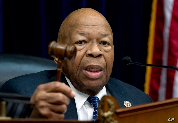 FILE - House Oversight and Reform Committee Chair Elijah Cummings, D-Md., speaks during a House Oversight Committee hearing on Capitol Hill in Washington, March 14, 2019.