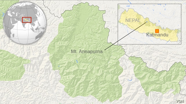 Mt. Annapurna in Nepal, site of avalanche