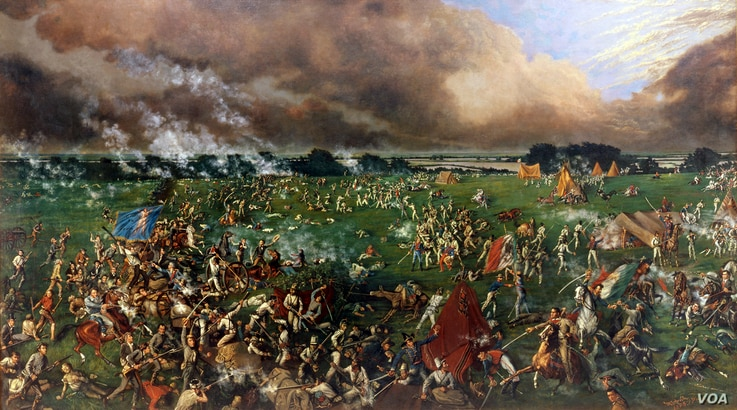 Henry A. McArdle captured the Battle of San Jacinto, which secured Texas independence in 1836.