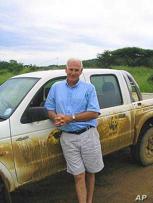 Wildlife expert Dr. Jacques Flamand is in charge of the WWF's Black Rhino Range Expansion Project