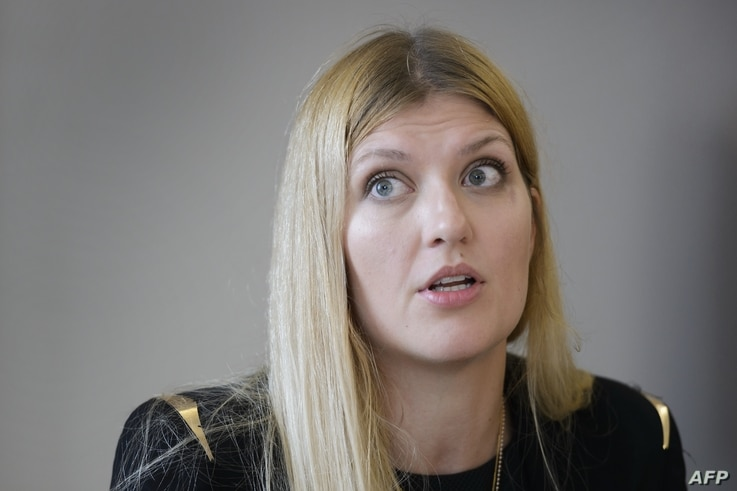 International Campaign to Abolish Nuclear Weapons Executive Director Beatrice Fihn attends a news conference on nuclear disarmament at the U.N. office in Geneva, May 12, 2016.