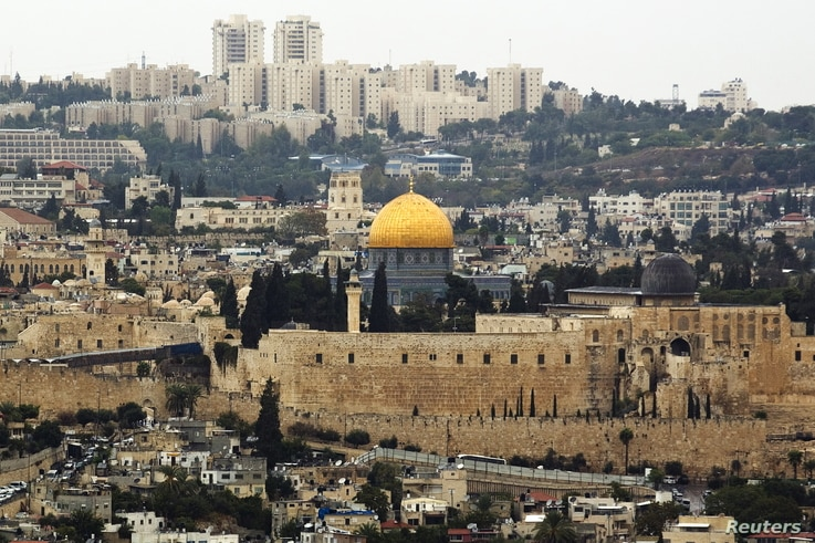 A general view of Jerusalem's old city shows the Dome of the Rock in the compound known to Muslims as Noble Sanctuary and to Jews as Temple Mount, Oct. 25, 2015.