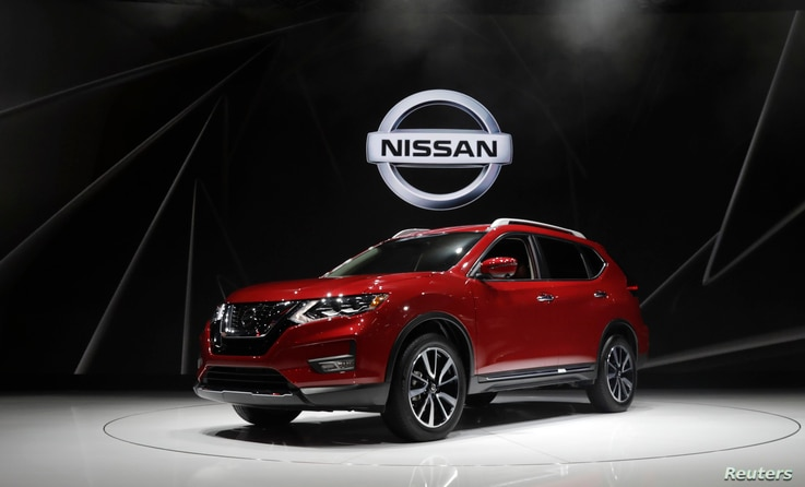 FILE - The 2018 Nissan Rogue is displayed at the 2017 New York International Auto Show in New York City, April 12, 2017.