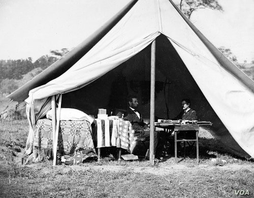 Even though Union commander George McClellan was victorious, President Abraham Lincoln wasn't happy that surviving Confederates escaped back into Virginia, to fight another day. Lincoln traveled to Antietam to tell McClellan so days later. (Library o...