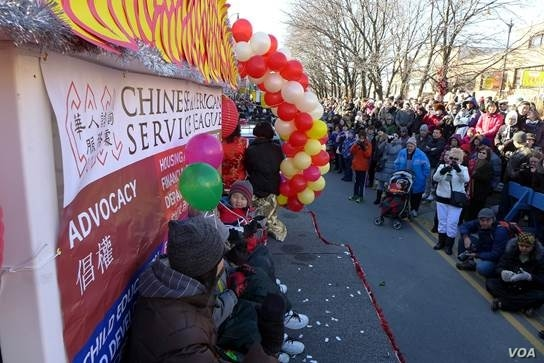 Chinese Americans celebrate Chinese New Year in Chicago's Chinatown on February 17, 2013