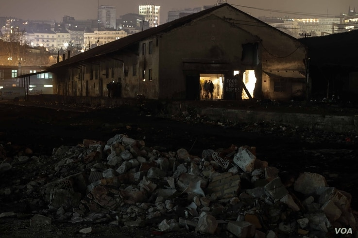 Located behind Belgrade's main train station, these barracks are home to hundreds of refugees and migrants.