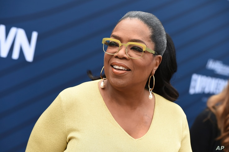 Oprah Winfrey arrives at THR's Empowerment in Entertainment Gala at Milk Studios, April 30, 2019, in Los Angeles.