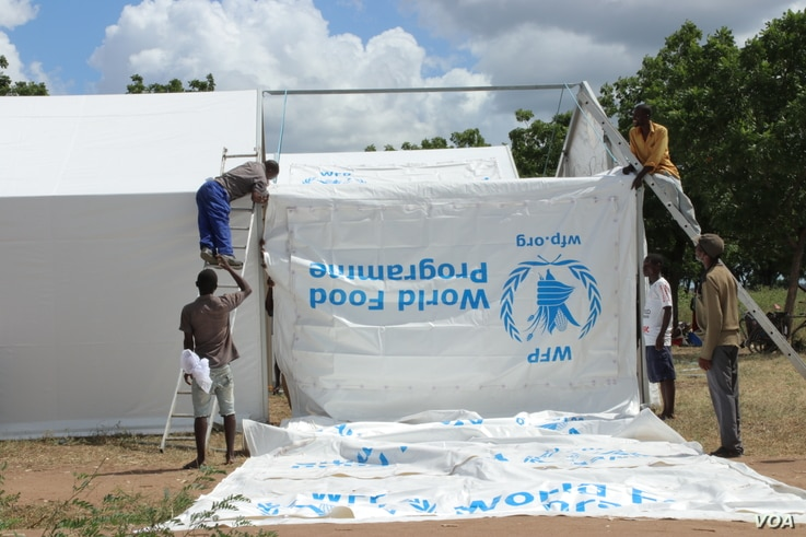 Besides flood mitigation efforts, the WFP continues to provide non-food items like tents to flood survivors in the affected area in Malawi.