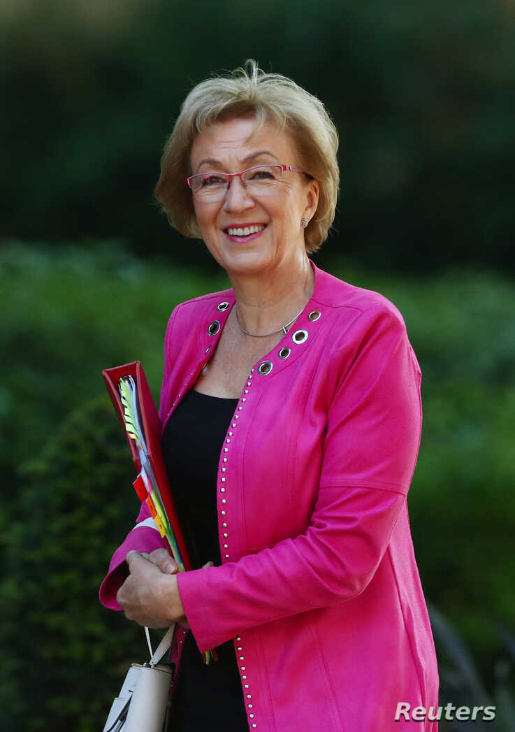 Britain's Conservative Party's leader of the House of Commons Andrea Leadsom is seen outside Downing Street, as uncertainty over Brexit continues, in London, Britain May 21, 2019. REUTERS/Hannah Mckay - RC1EDEDC5910