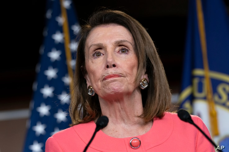 Speaker of the House Nancy Pelosi, D-Calif., speaks to the media at a news conference on Capitol Hill in Washington, May 2, 2019.