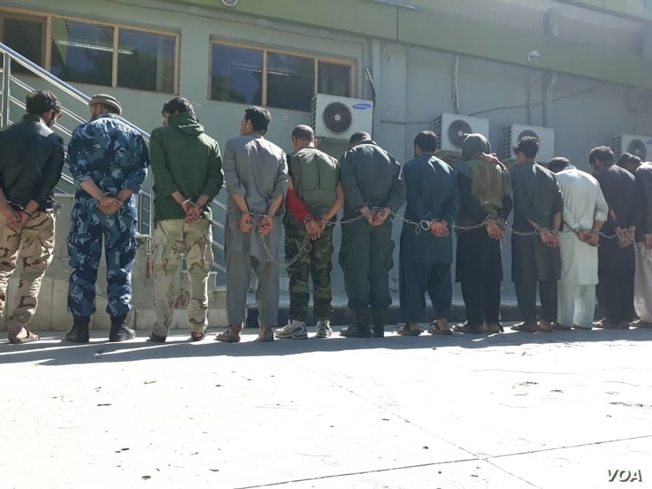 Afghan authorities detained scores of people, including policemen, and seized their weapons for celebrating their national team's victory against Pakistan on Friday, May 25. 2019.