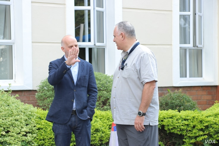 EU observer mission deputy chief Mark Stevens (left) says the group's hope is that the elections in Malawi are transparent, inclusive, and credible.