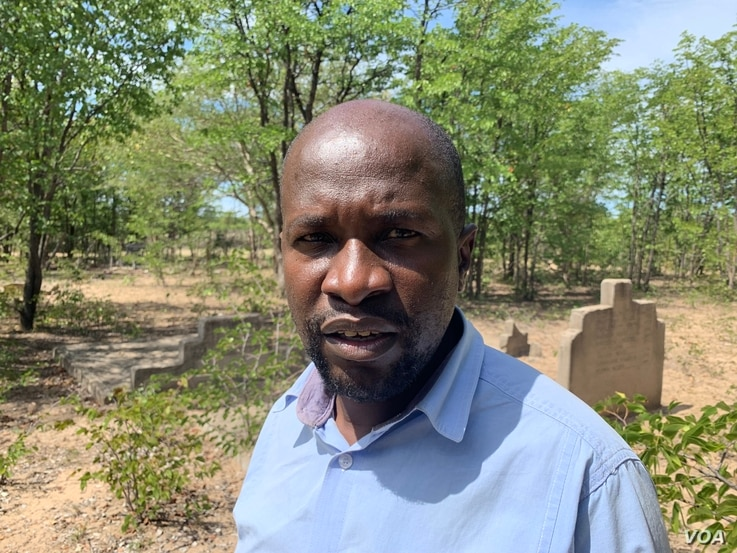 Mbuso Fuzwayo, secretary of Ibhetshu Likazulu a rights group from Matebeleland region, in Tsholotsho district April 18, 2019, says President Emmerson Mnangagwa's lifting a discussion and reburials ban of Gukurahundi massacre victims is not the end ...
