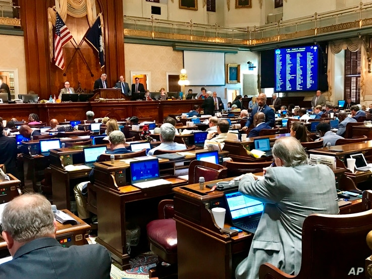 South Carolina lawmakers, seen here inside the House Chamber in Columbia, plan to adopt year-round daylight saving time if the move is authorized by Congress, May 9, 2019.