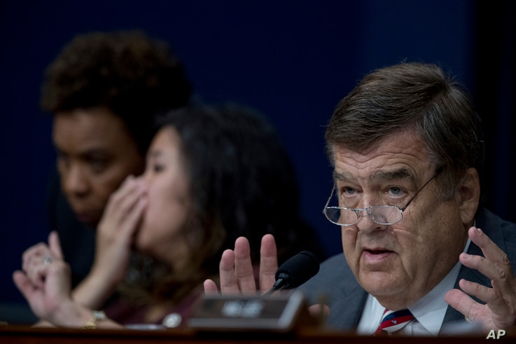 Rep. Dutch Ruppersberger, D-Md. questions U.S. Ambassador to the UN Nikki Haley as she testifies on Capitol Hill in Washington, Tuesday, June 27, 2017.