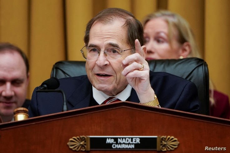 Chairman of the House Judiciary Committee Jerrold Nadler (D-NY) speaks during a mark up hearing on Capitol Hill in Washington.