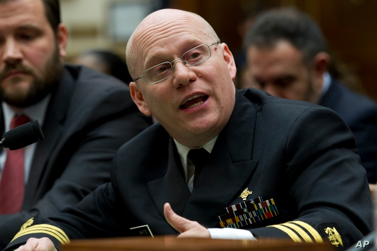 U.S. Public Health Service Commissioned Corps Commander Jonathan White testifies before the House Judiciary Committee on the Trump administration's separation policy involving migrant families on Capitol Hill in Washington, Feb. 26, 2019.