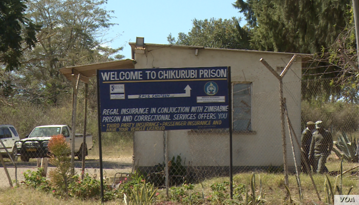 Chikurubi Maximum Security prison just outside Harare where the seven detained activists are being held on treason charges, June 3, 2019. (Columbus Mavhunga/VOA)