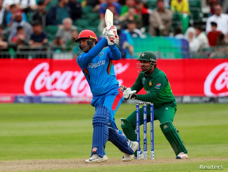 Afghanistan's Mohammad Nabi in action during Pakistan against Afghanistan match, May 24, 2019. (Action Images via Reuters)