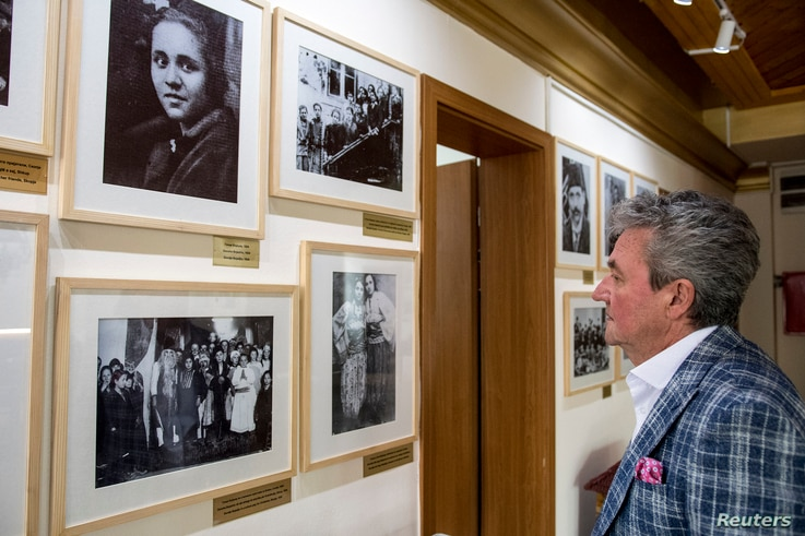 Gombar Alojz, the  grand-nephew of Mother Teresa, visits her memorial house in Skopje, April, 20 2019. Pope Francis will visit North Macedonia, the birthplace of Mother Teresa, the world's most famous Catholic nun, May 7, 2019.