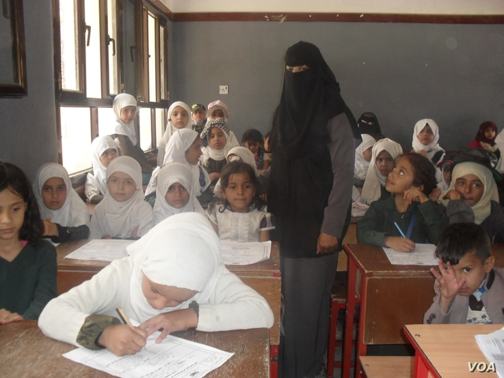 After the blast, teachers said they felt obligated to return to school despite their fears, to encourage children to do the same, in Sanaa, Yemen, April 20, 2019.