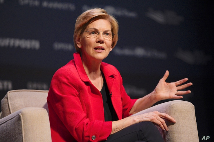 Democratic presidential candidate Sen. Elizabeth Warren, D-Mass., speaks at the Heartland Forum held on the campus of Buena Vista University in Storm Lake, Iowa, March 30, 2019.