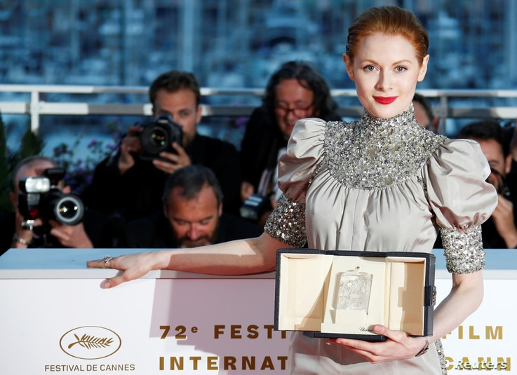 """Emily Beecham was named best actress at the Cannes Film Festival for her performance in """"Little Joe,""""  Cannes, France, May 25, 2019."""