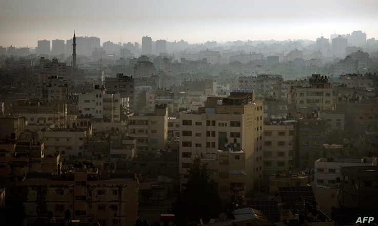 Buildings are pictured in the northern Gaza Strip, May 16, 2019.