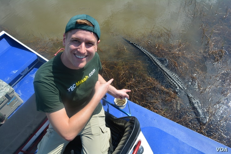 Mikah Meyer had a chance to get up close and personal with some residents of the Everglades National Park in Florida. (M.Meyer)
