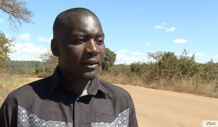 Makomborero Haruzivishe says Zimbabwe's activists are being held at the country's maximum security prison on trumped up treason charges, June 3, 2019. (C.Mavhunga/VOA)