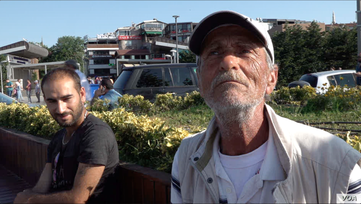 Yucel, a retiree and AK Party supporter, said he is disappointed at the party's loss in Istanbul. (D. Jones/VOA)