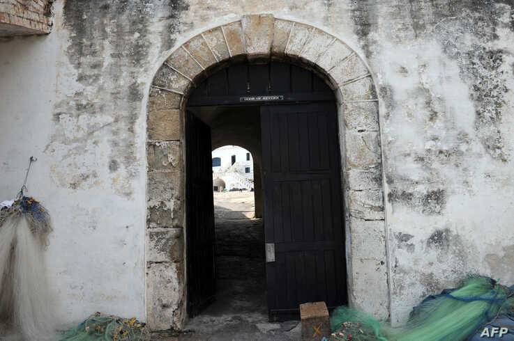 FILE - The Door of No Return at Cape Coast Castle, a fortress used to confine slaves in Ghana before they were shipped abroad, is pictured Dec. 1, 2010.