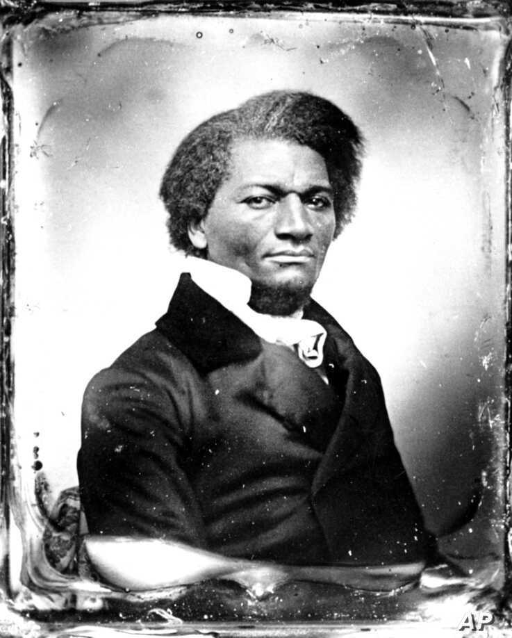 An undated photo of abolitionist Frederick Douglass.